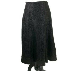 T by Tahari A-Line Skirt Lace Size 8 Brown